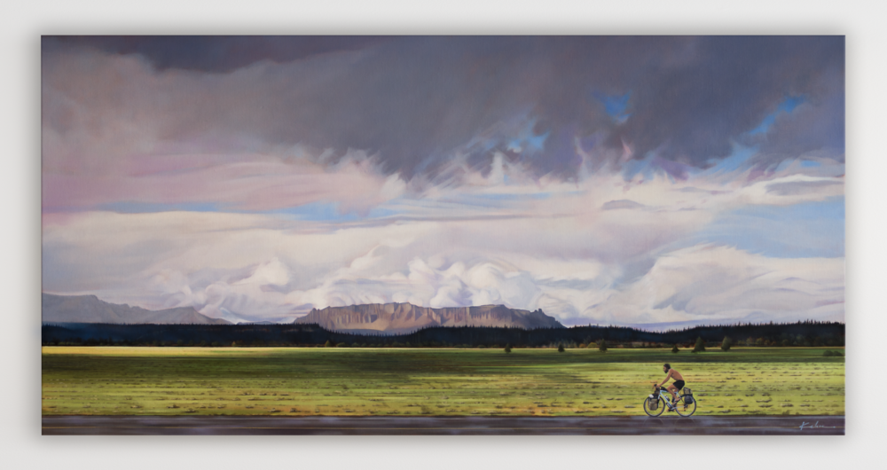 AVAILABLE Title: SUMMER OF REVERENCE 28 X 56, Oil on Linen Framed