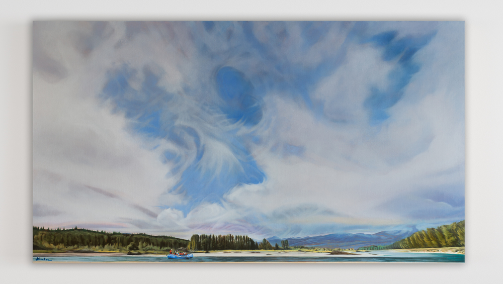 SOLD  Title: Thank the River  28 x 50, Oil on Linen  Framed