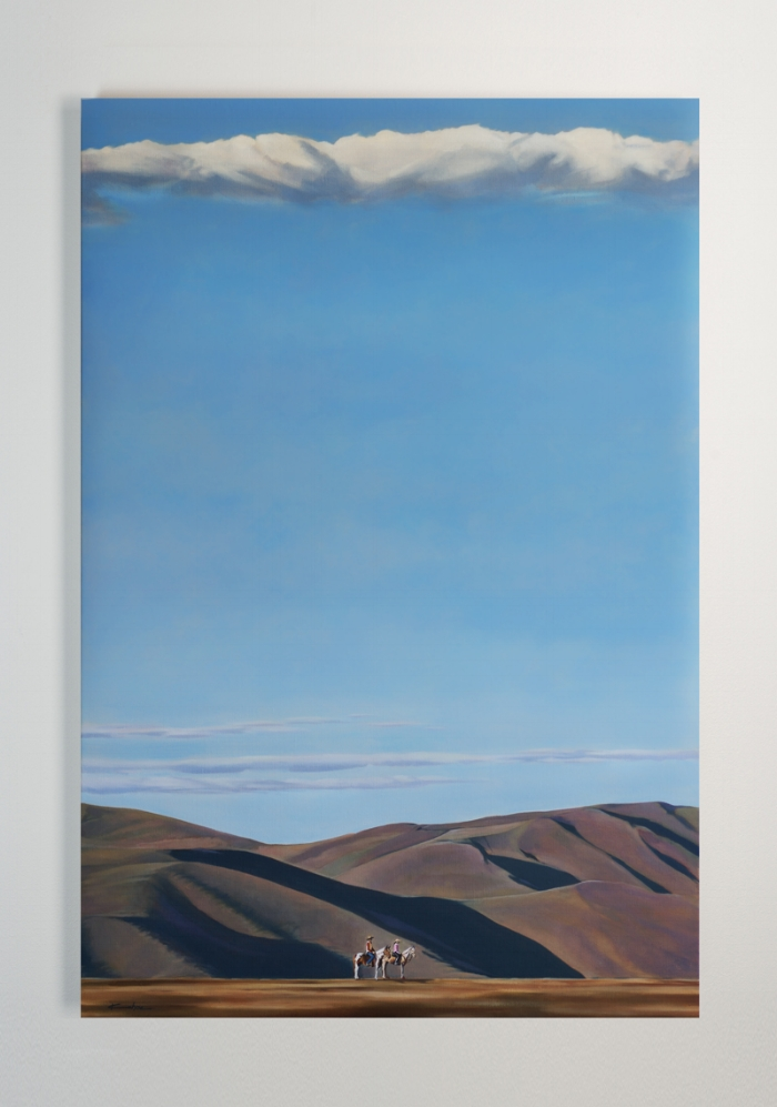 SOLD - ACQUIRED BY THE STATE OF UTAH FOR THEIR PERMANENT COLLECTION  Title: HIGH WEST HIGH  27 X 40, Oil on Board  Framed