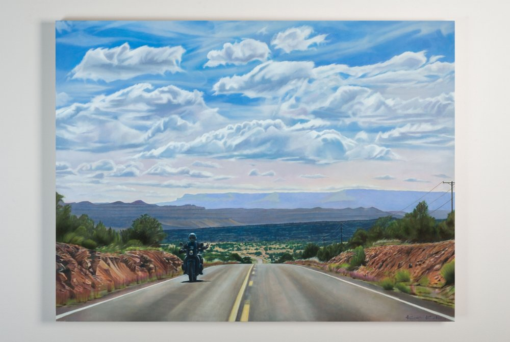 AVAILABLE  Title: BYWAY 12  30 X 40, Oil on Board  Unframed