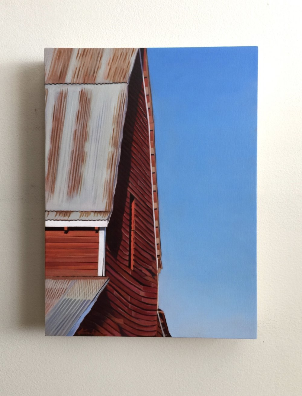 "AVAILABLE Title: SOPHIE'S BARN 10.5 x 14.5, Oil on Board I was about half way through painting this small, big barn when a friend stopped by my studio. She looked at it and without missing a beat asked, ""Is that Sophie's barn?"" I said, ""I don't know Sophie"", but continued to tell her the location of the barn in Midway, Utah. Upon hearing where the barn is located she said, ""Yup, that's Sophie's barn."" I replied, ""Well, I think the title of this one should be Sophie's Barn."""