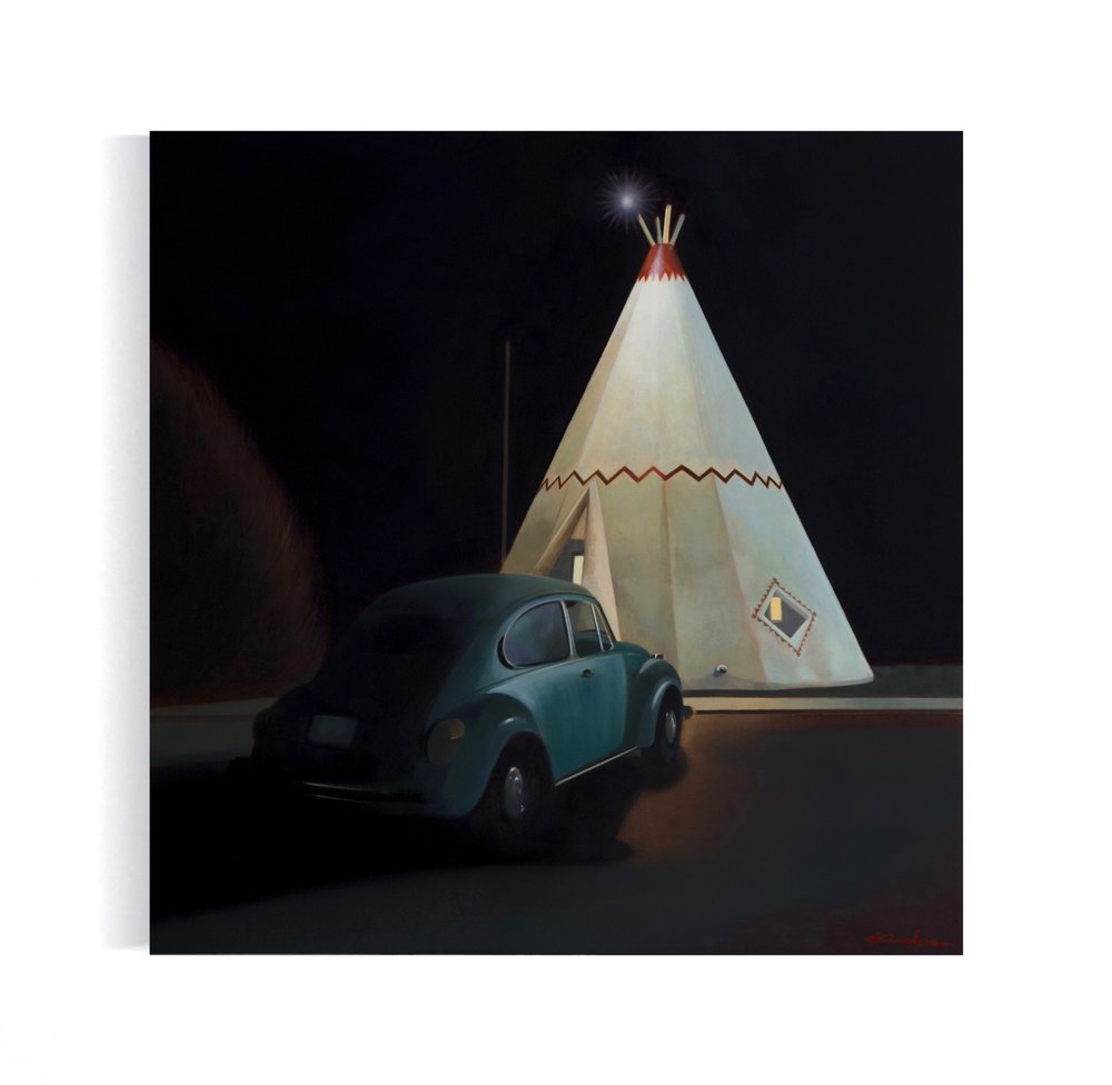 Title: WIGWAM ROOM NO. 6 16 X 16, Oil on Board Available at Altamira Fine Art in Scottsdale, AZ December 4-23