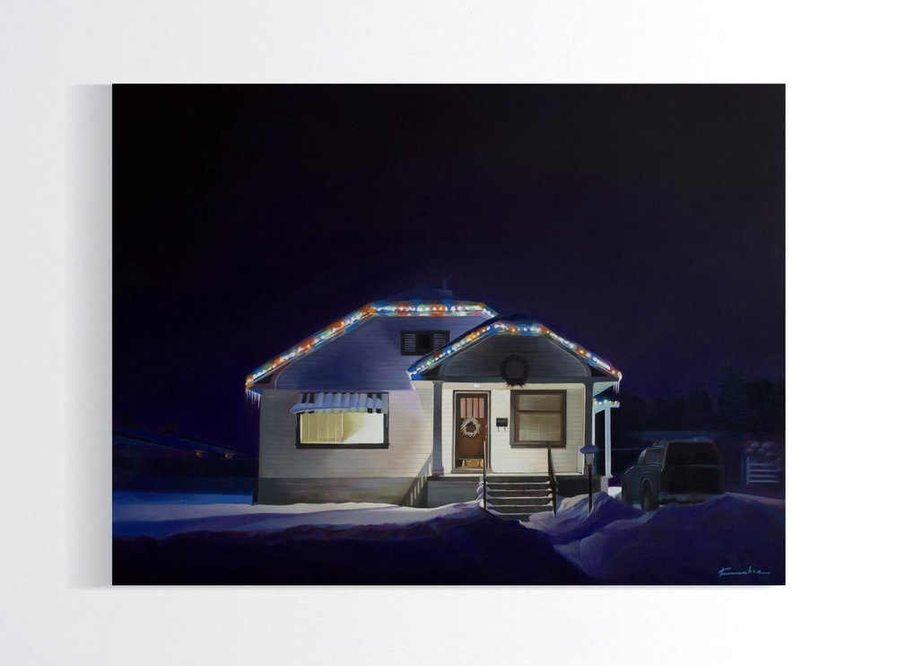 Title: BUNGALOW  24 X 32, Oil on Linen  SOLD