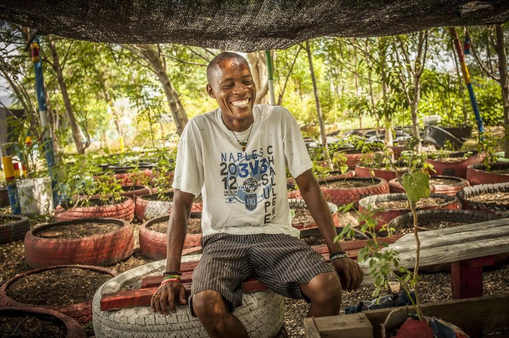 Blan, Owner of Jadin Tap Tap, Cité du Soleil, Haiti, 2013