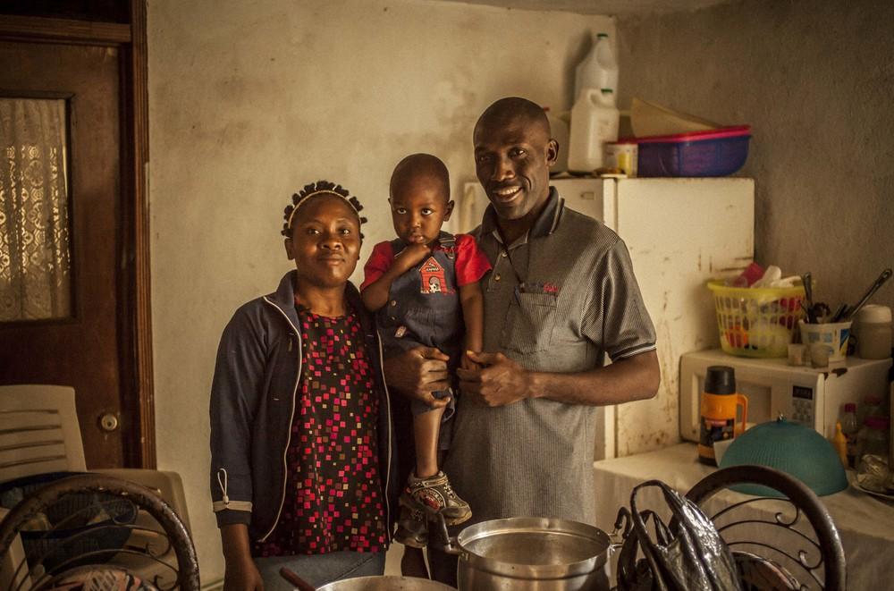 Gwinette, Geetu, and Son, Haiti, 2013