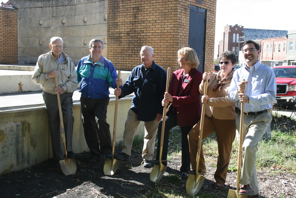 Breaking ground on the Bandstand. MSW's Economic Restructuring working to make the downtown more appealing to potential new businesses and investors.