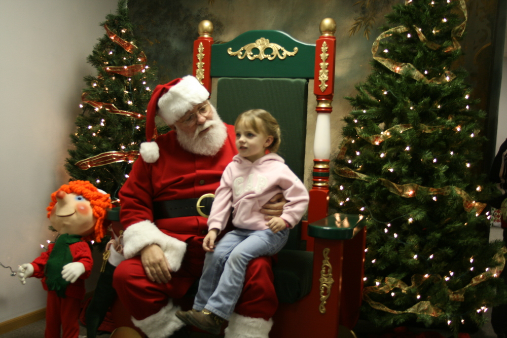 Visiting Santa's House. MSW hosts Santa during its annual SNOW Event taking place every Thanksgiving through Christmas. Check out our Event page for this years schedule.