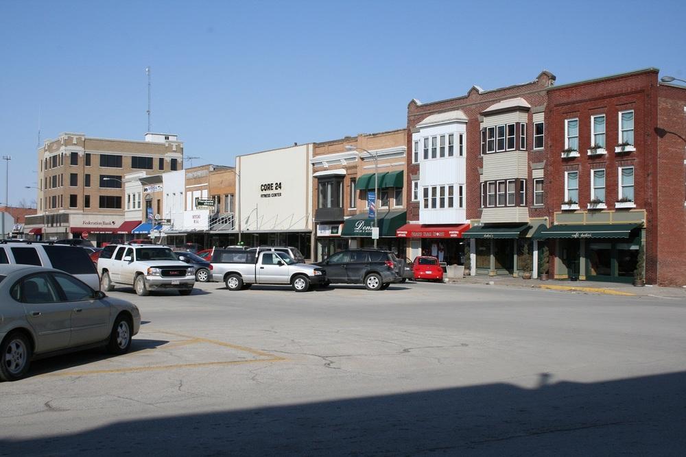 East Side of the Square- Iowa Avenue