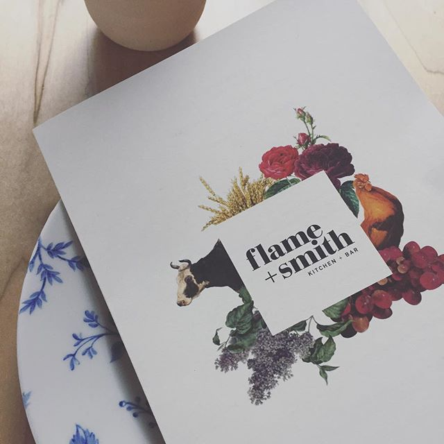 Loved seeing our #branding for @flameandsmith see the light of day at the launch of this beautiful sustainably-minded #restaurant in #princeedwardcounty