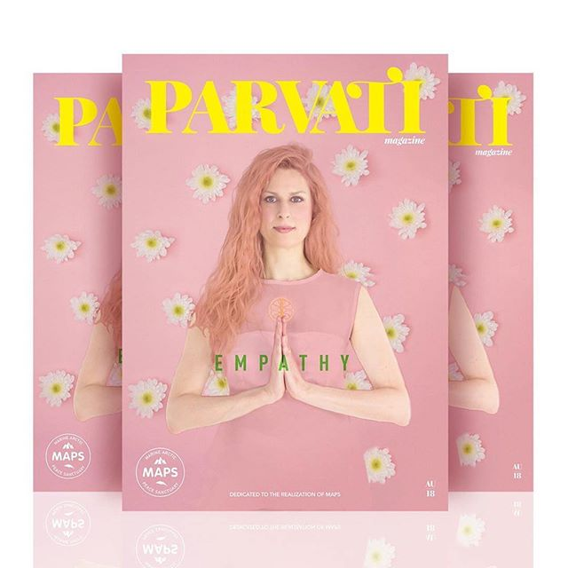 The August issue of Parvati Magazine is out. Producing the cover #art is always one of our favorite parts of the designing the issue. Check out @parvatiofficial to see more of the #magazine and other #positive #vibes