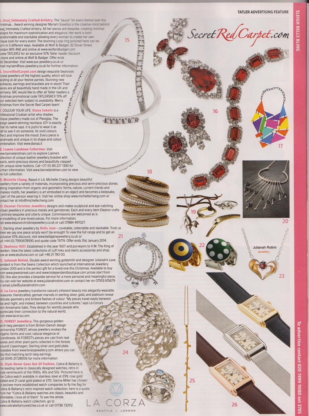 Tatler Sleigh Bells Bling - Eleanor Christine Jewellery
