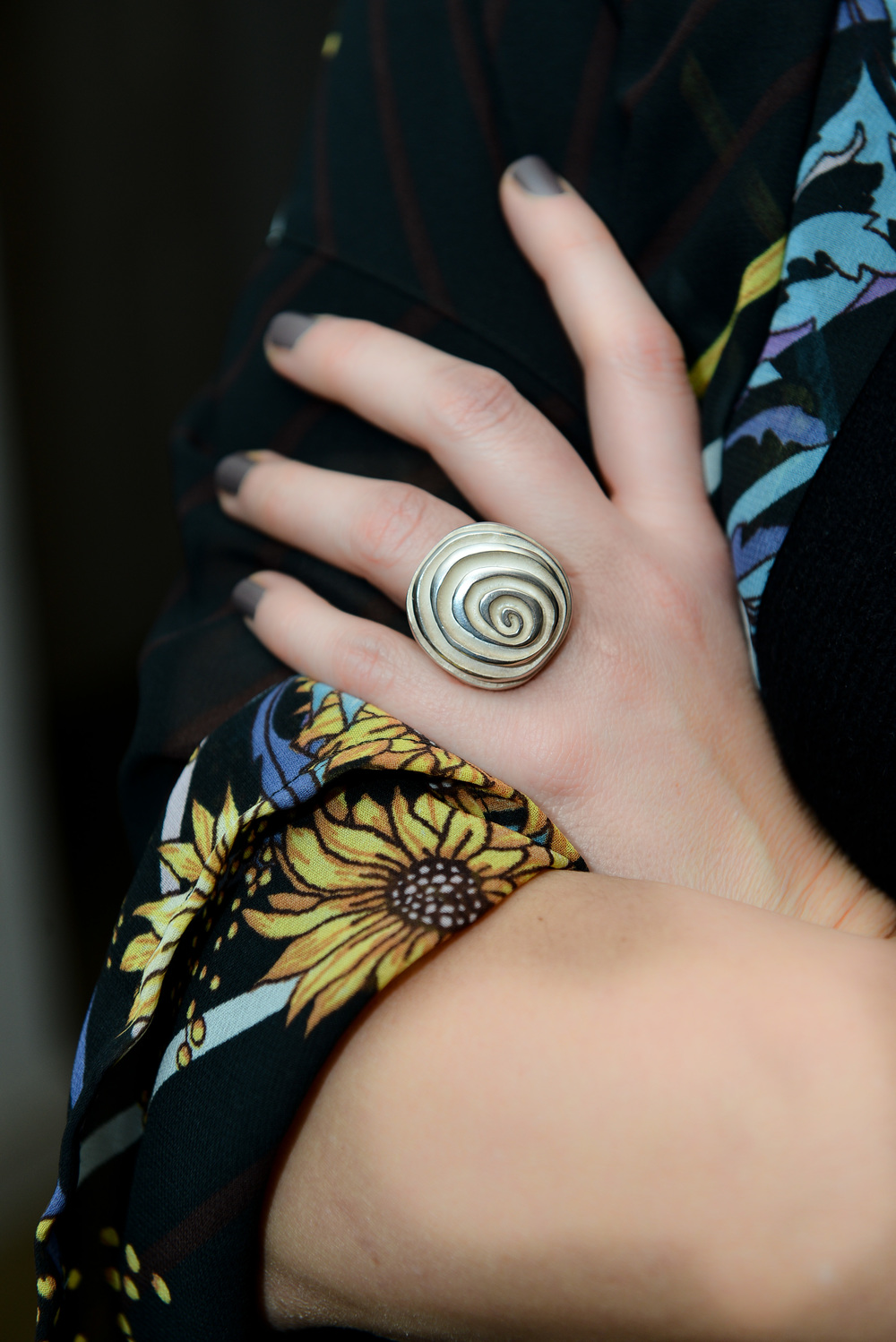 Chunky spiral ring