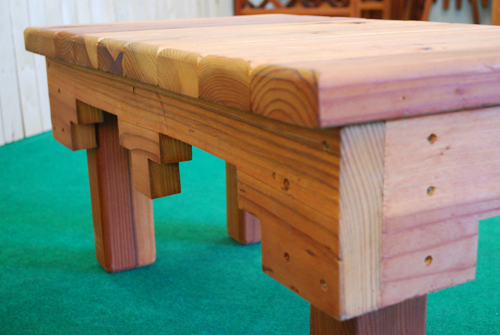 southwestern redwood table