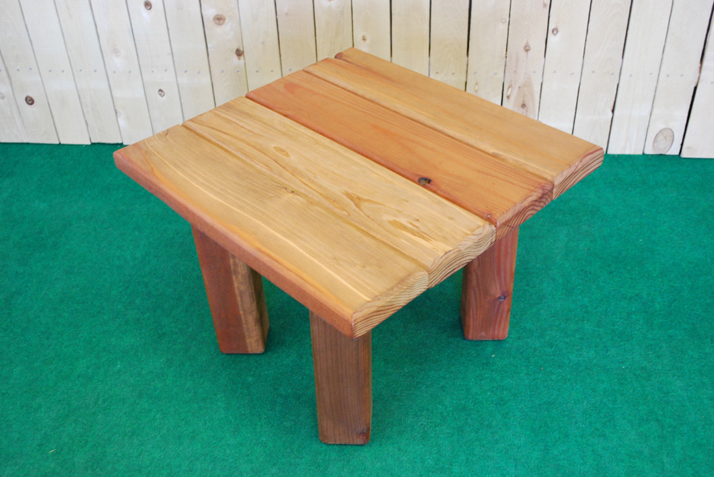 redwood square accent table