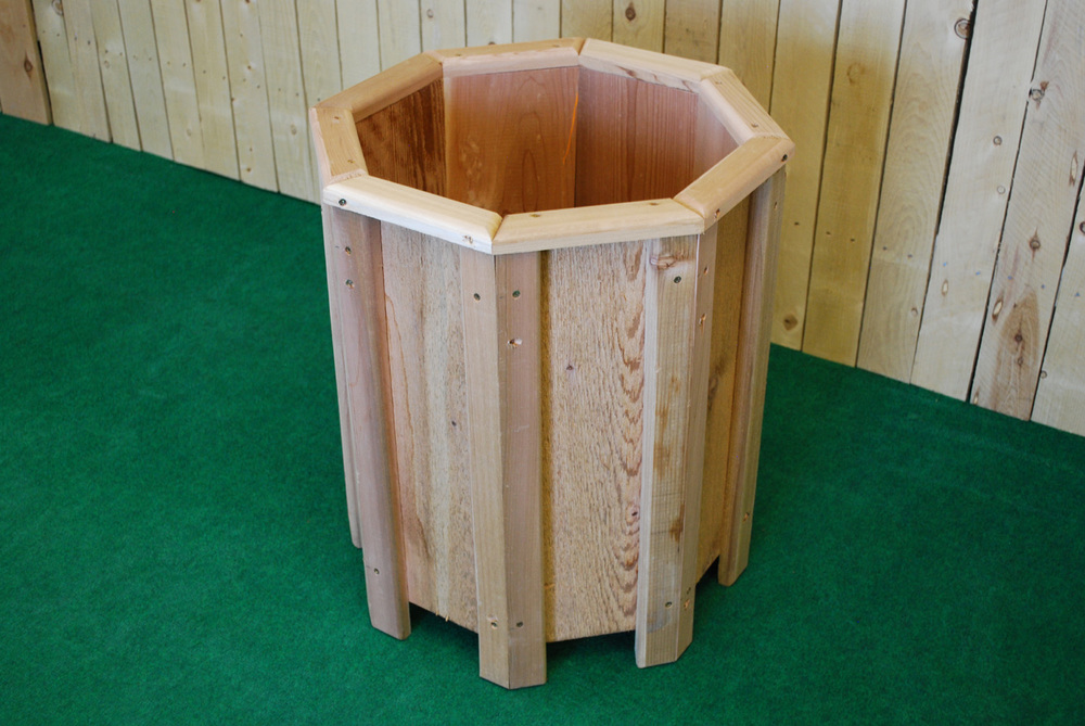 cedar octagon planter