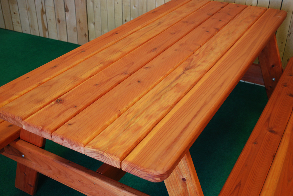 "72"" redwood picnic table"