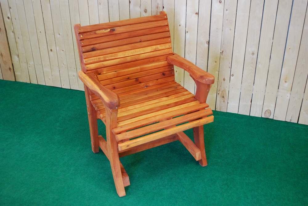 redwood dining chair