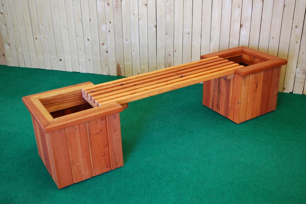 Pl Box Straight Planter And Bench The Redwood Store