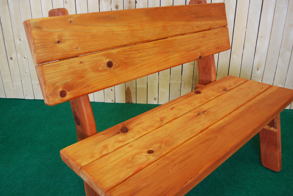redwood park bench