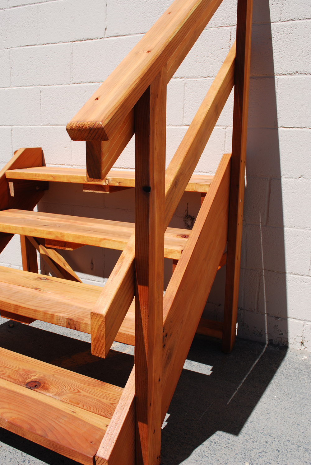 spec_deck Free Standing Stairs — The Redwood Store