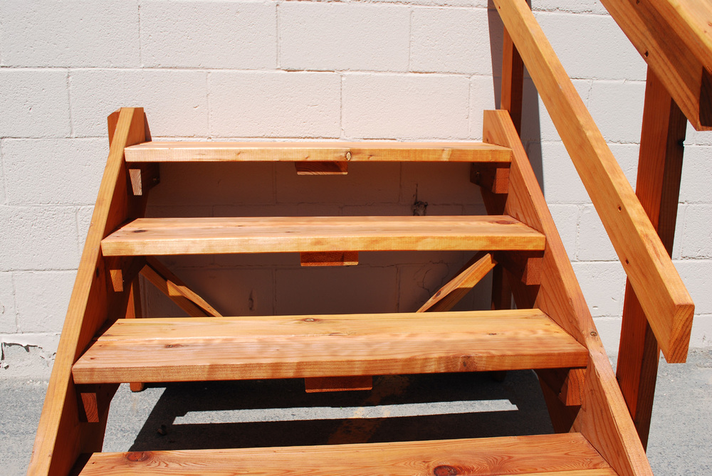 Spec Deck Free Standing Stairs The Redwood Store