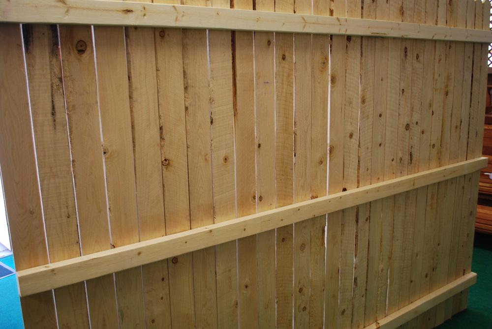"1"" x 4"" cedar fence panel"