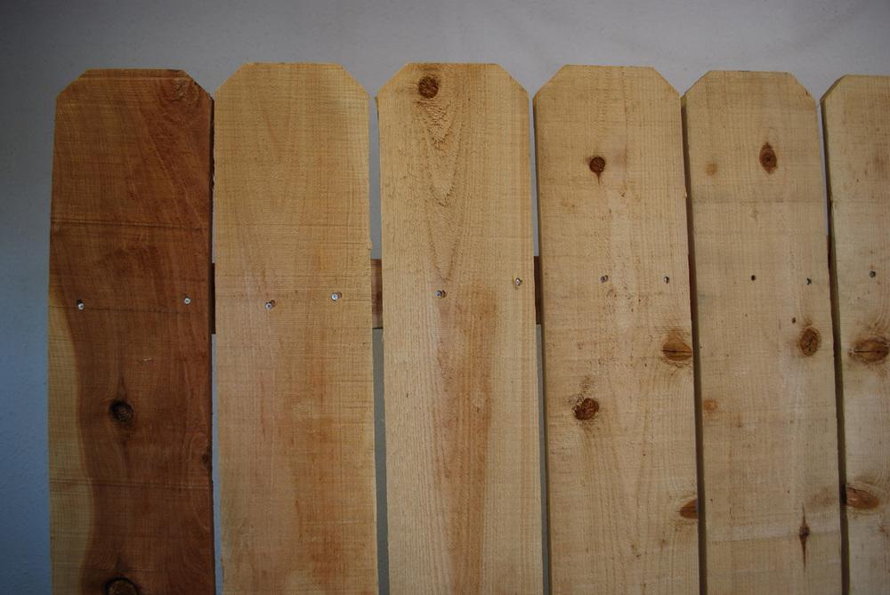 "1"" x 6"" cedar fence panel"