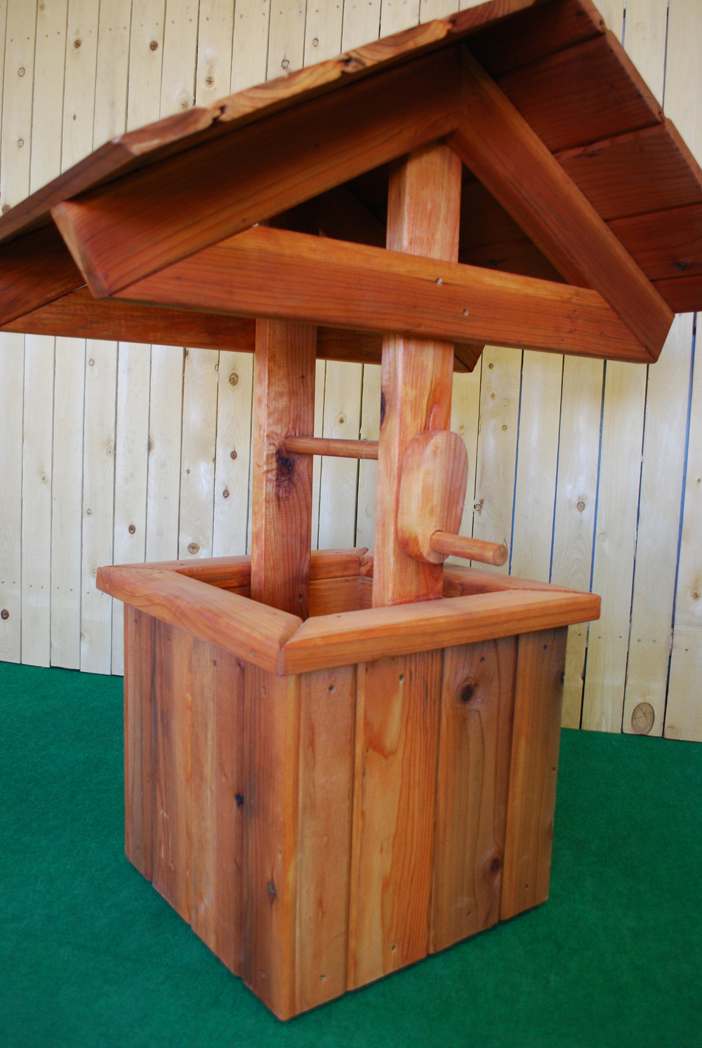small redwood wishing well