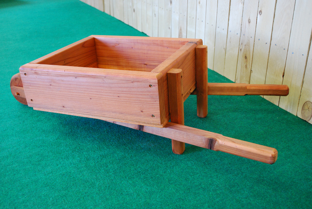 redwood wheel barrow