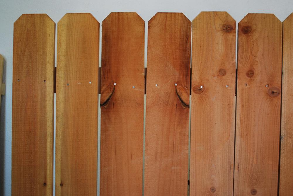 "1"" x 6"" redwood fence panel"
