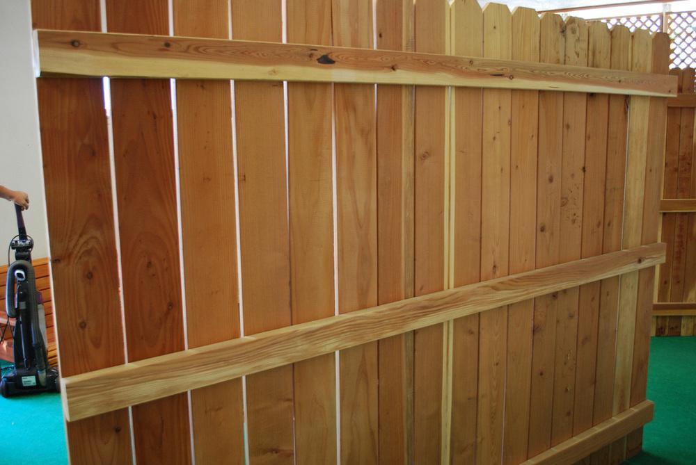 "1"" x 4"" redwood fence panel"