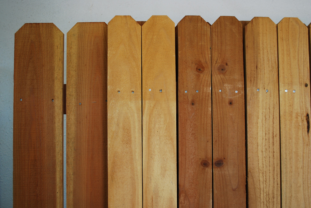 "1"" x 4"" and 1"" x 6"" redwood fence panel"