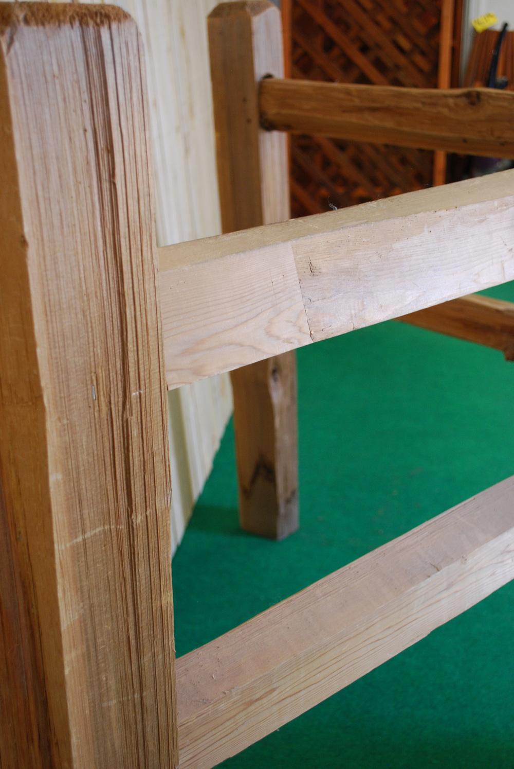 cedar split rail fence