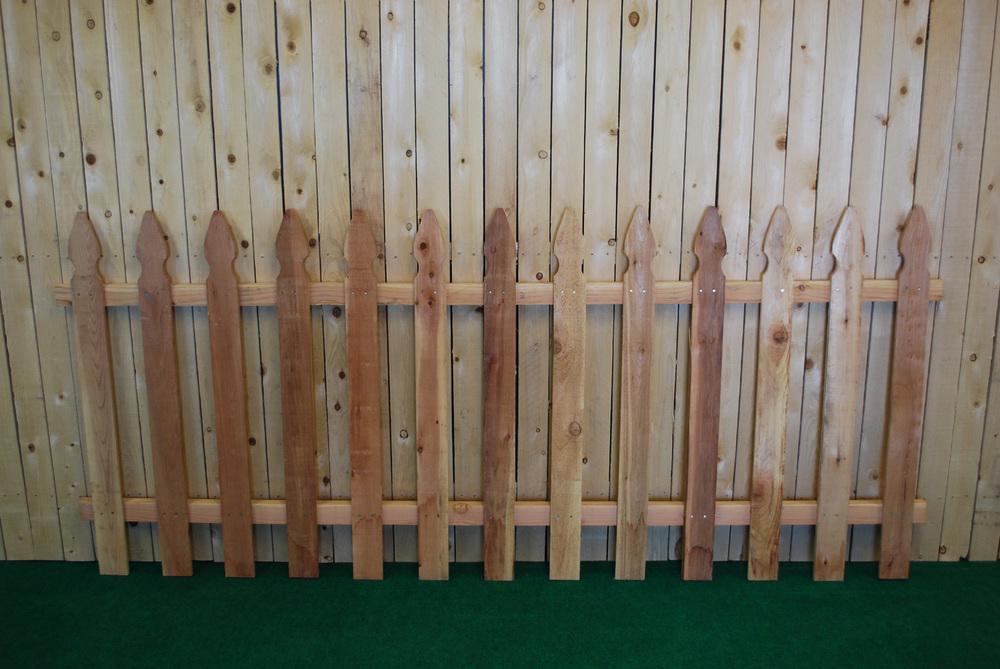 cedar gothic fence panel