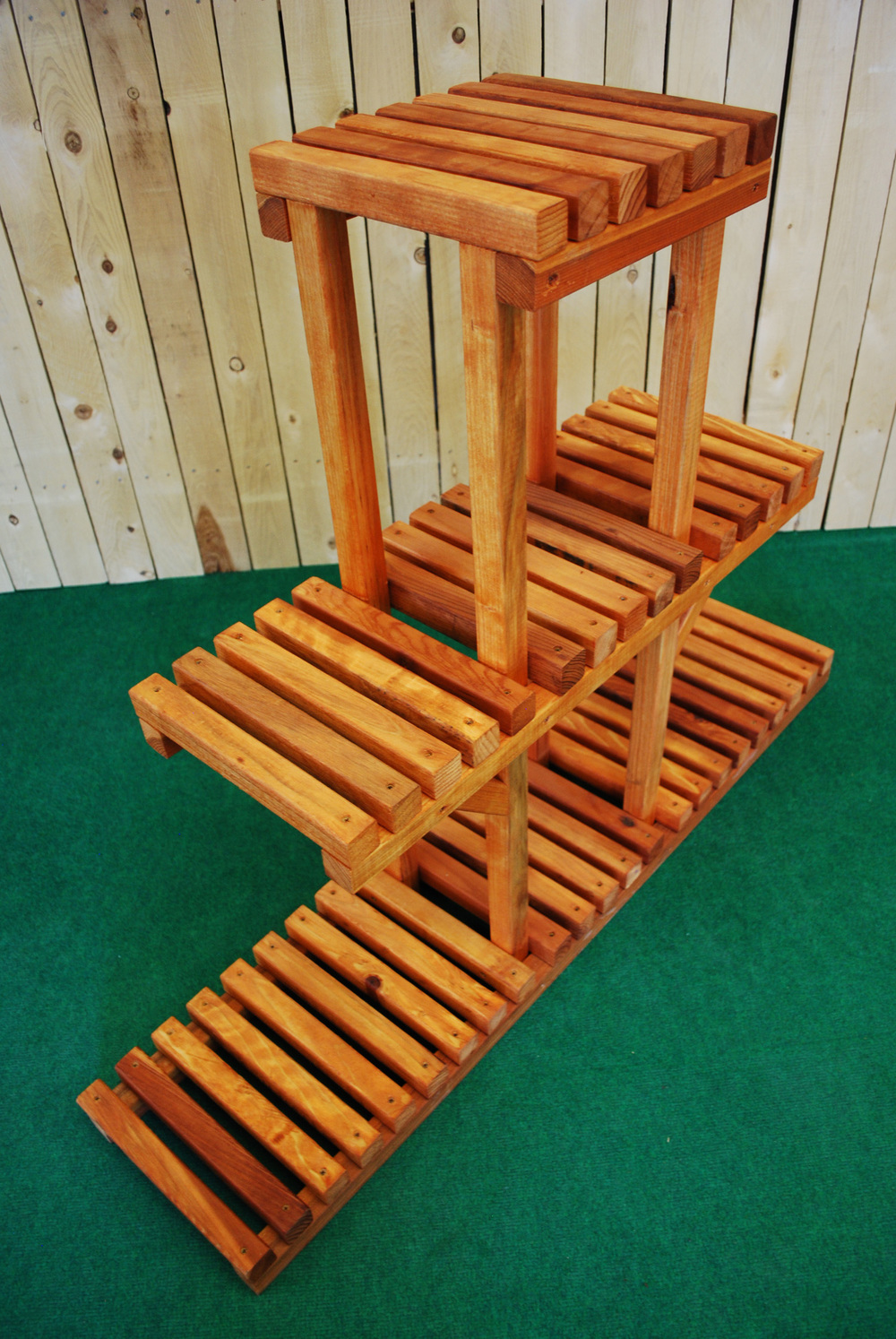 Pl Ben 3 Tier Plant Stand The Redwood Store