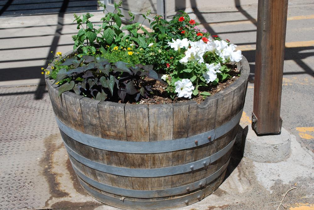 Pl Box Oak Wine Barrel Planter The Redwood Store