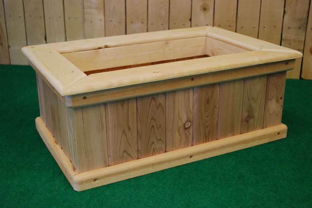 Pl Box Cedar Rectangle Planters The Redwood Store