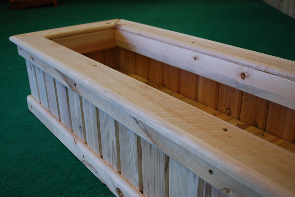 cedar rectangle planter