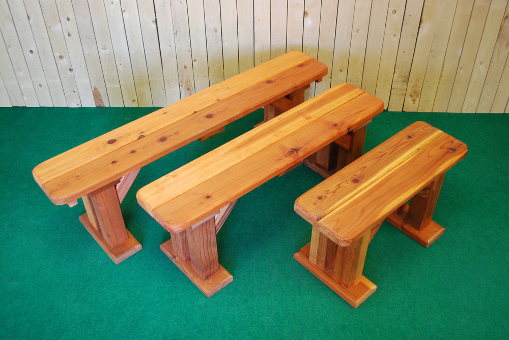 Merveilleux Redwood Picnic Table Bench