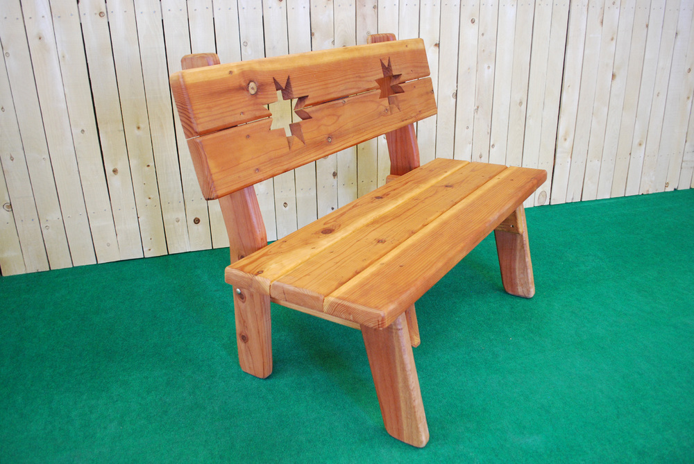 redwood ohio star bench