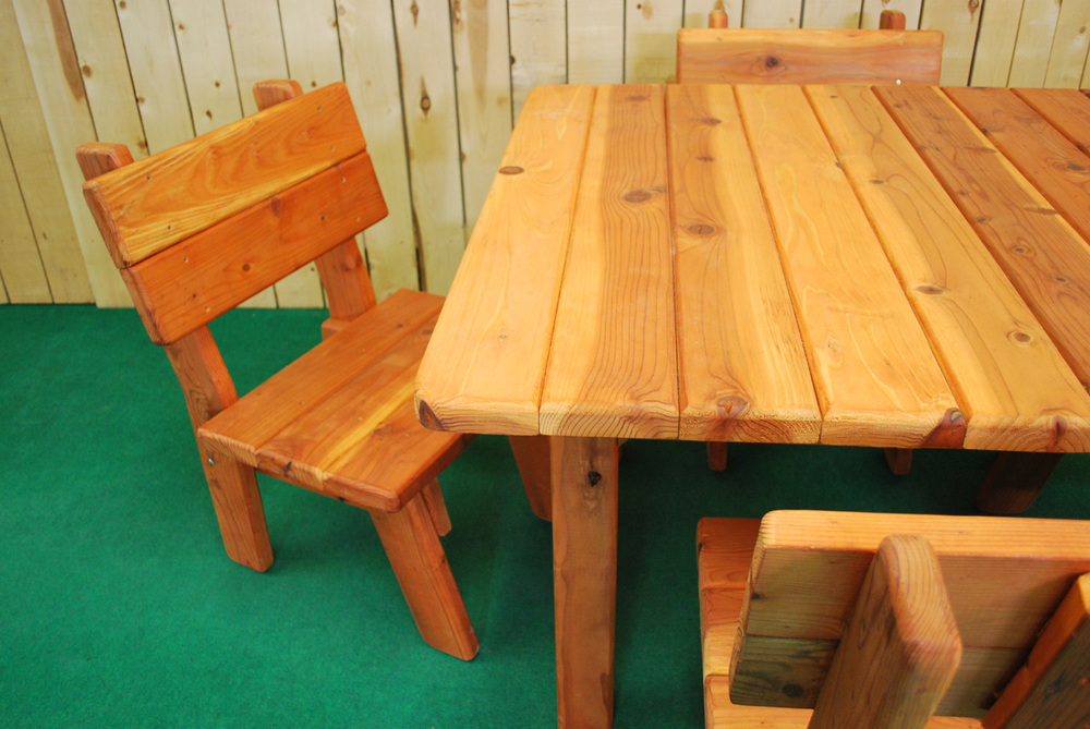 "48"" redwood square picnic table"