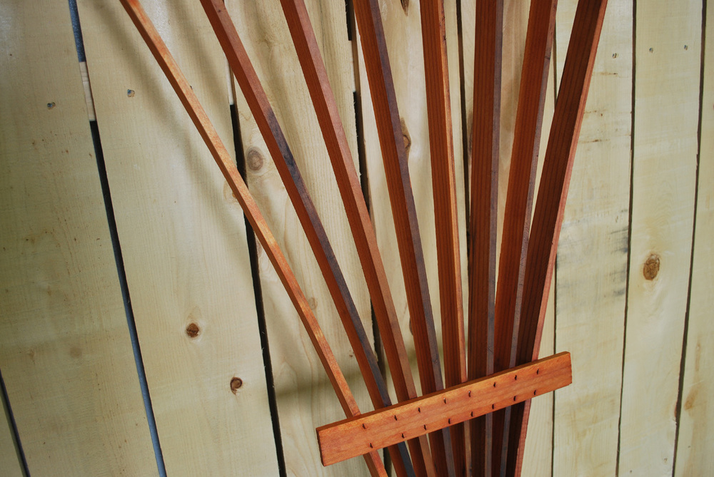 redwood fan trellis