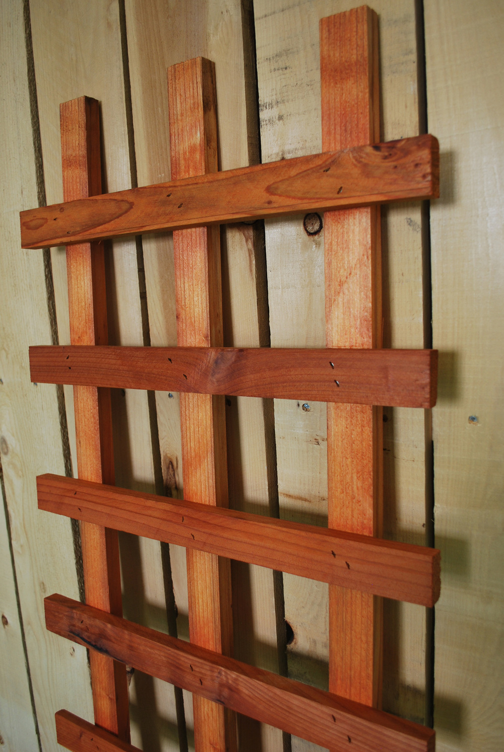 redwood ladder trellis
