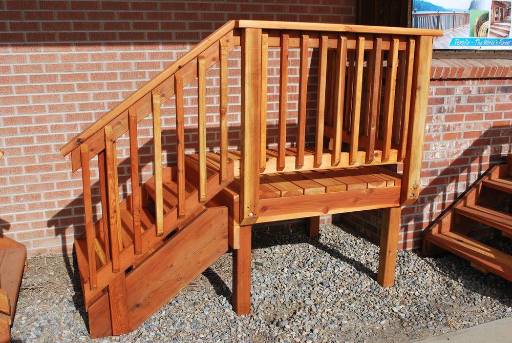 Deck stair the redwood store for Manufactured stairs
