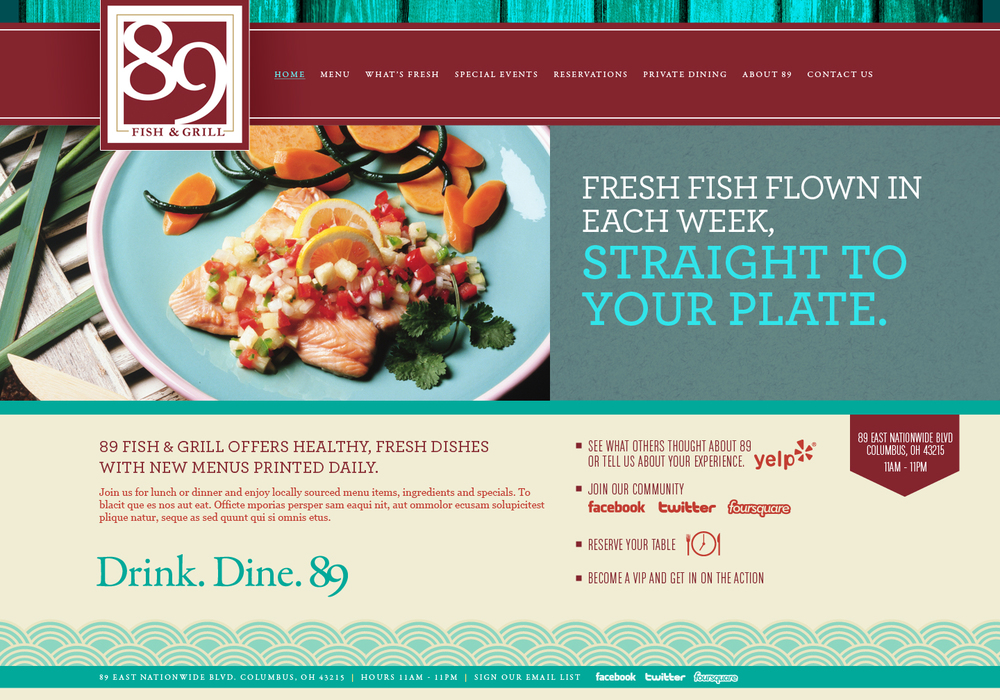 89 Fish & Grill   //  Collaboration with Cult Marketing.