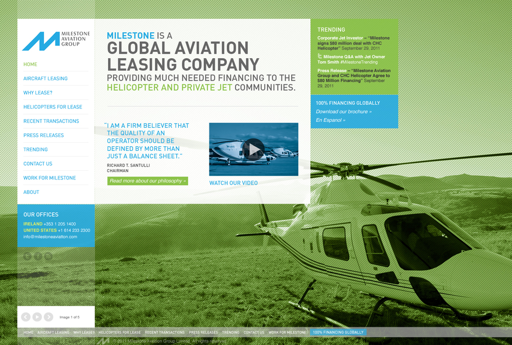 Milestone Aviation Group  / Collaboration with Cult Marketing.