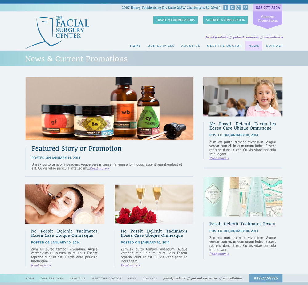 Facial Surgery Center  / Collaboration with Harmonic Energies Web Consulting.