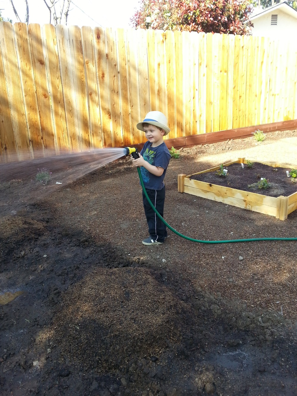 ...and kids love watering!