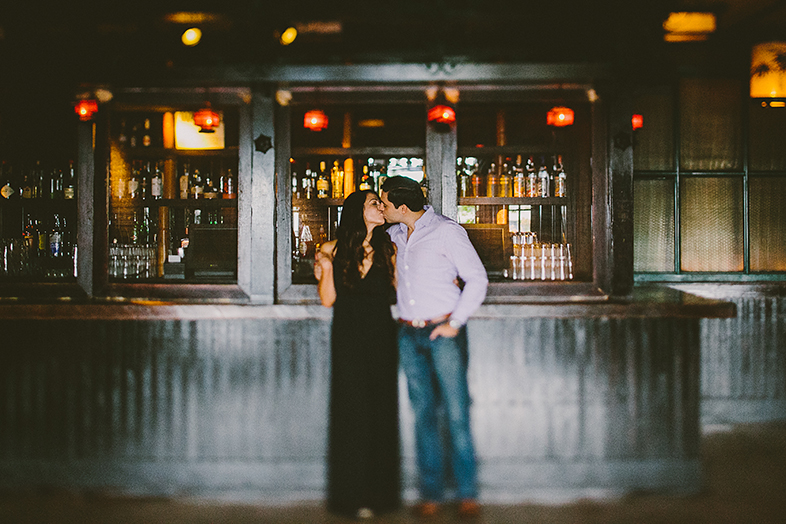 Park Restaurant Engagement Shoot Manhattan