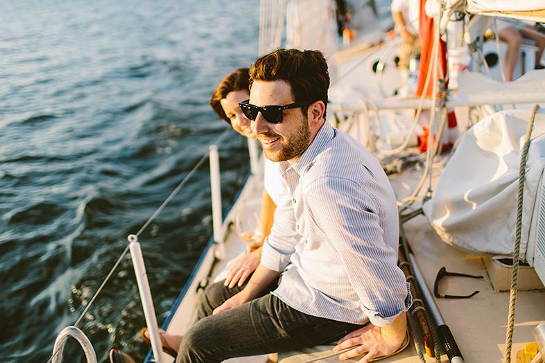 Philadelphia Sail Boat Engagement